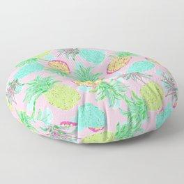 Pineapple Pandemonium Tropical Spring Floor Pillow