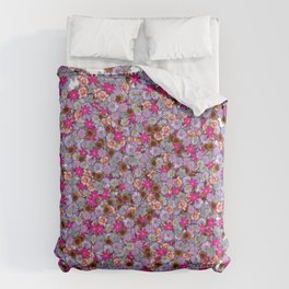 A conglomerate of flowers Comforters