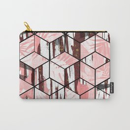 Tropical Pastel Geometric Cubes Design Carry-All Pouch