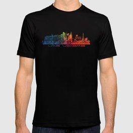 Las Vegas skyline color T-shirt