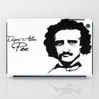 edgar allan poe iPad Cases featuring Edgar Allan Poe  by SINPE