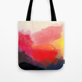 Red, Black and Yellow Mosaic Tote Bag
