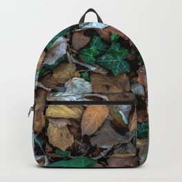 Autumnal leaves bed Backpack