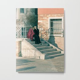 Resting lovers Venice Carnival 2018 Italy Metal Print