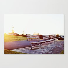 lonely benches Canvas Print