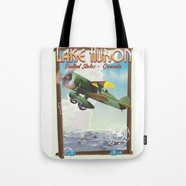 Lake Huron Vintage travel poster. Tote Bag