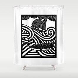 Herman - Paper Cut Illustration. 2015 Shower Curtain