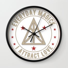 I Attract Love activated magickal sigil valentines day shirt gift Wall Clock