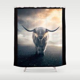 highland cattle scotland Shower Curtain