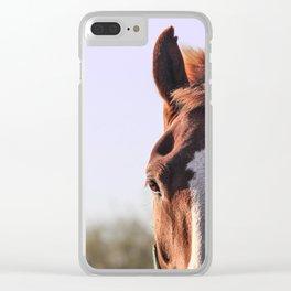 Mitad caballo Mitad cielo Clear iPhone Case