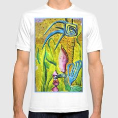 Celestial World of Palm White MEDIUM Mens Fitted Tee