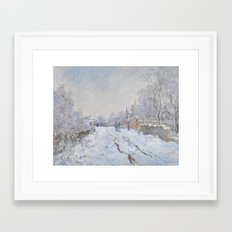 Snow Scene at Argenteuil by Claude Monet Framed Art Print