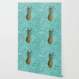 Pineapple Swimming Wallpaper