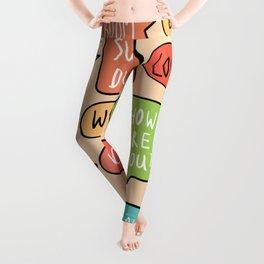 Colorful Speech Bubble Doodle Leggings