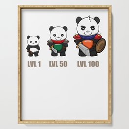 Gamer Panda Dungeon RPG Tabletop funny gift Serving Tray