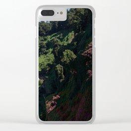 Purple Hills Clear iPhone Case