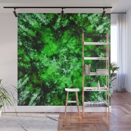 Green burst Wall Mural
