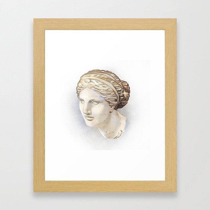 Aphrodite of Cnidus Framed Art Print