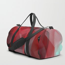 Abstract in Red Black and White Duffle Bag