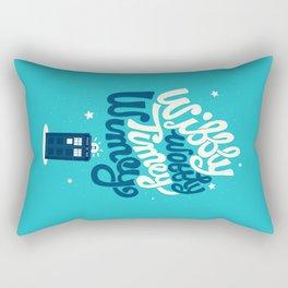 Wibbly Wobbly Timey Wimey Rectangular Pillow
