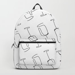 line drawing - wine glass Backpack