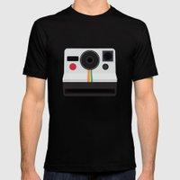 Polaroid One Step Land Camera MEDIUM Mens Fitted Tee Black