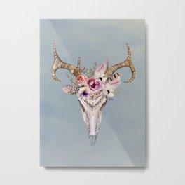 Deer Skull 2 Metal Print