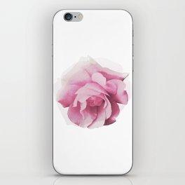 Pink Rose Watercolor iPhone Skin