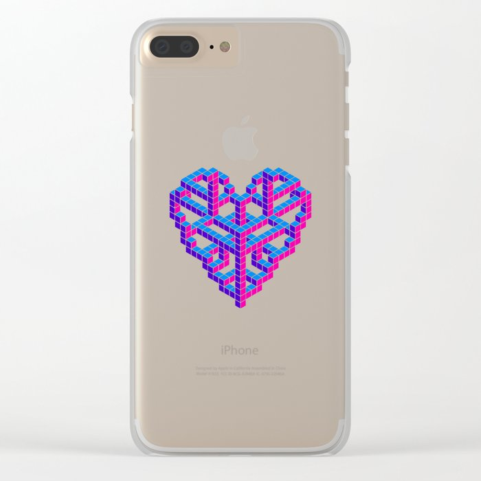 Impossible Love Clear iPhone Case