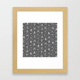 Bushido Seven Virtues Framed Art Print