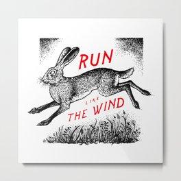 Run Like The Wind Metal Print