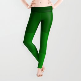 Irish Kelly Green Ombre Stripes Leggings