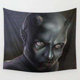 Demonoid Girl Portrait Wall Tapestry