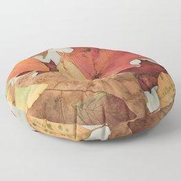 Autumn Red Floor Pillow