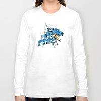monster hunter Long Sleeve T-shirts featuring Monster Hunter All Stars - Blue Rippers by Bleached ink