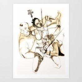 Tristan Corbière, Thick Black Trace, Chanson en Si Art Print