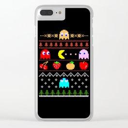 Arcade Christmas Clear iPhone Case