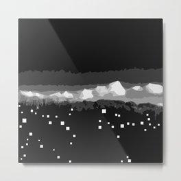 Cloudy city night Metal Print