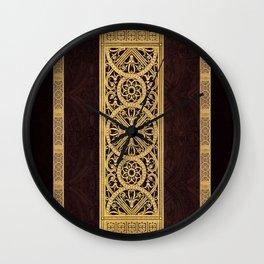 Golden Ornement Wall Clock