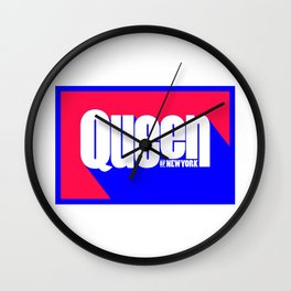 Queen of New York (Blue & Red) Wall Clock