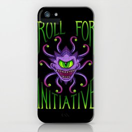 Roll for Initiative - Green iPhone Case