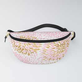 Abstract flowers pink and gold Fanny Pack