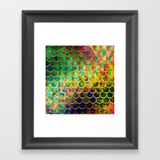 Scales Edged in Gold Framed Art Print