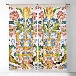 Floral Antependium Southwest German Silk Embroidery Print Blackout Curtain