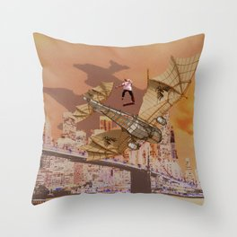Free Wings Throw Pillow