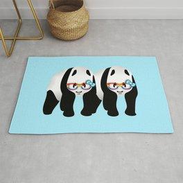 Gay Pride Pandas Rug