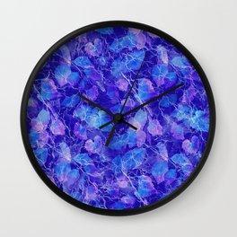 Frozen Leaves 31 Wall Clock