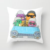 vampire weekend Throw Pillows featuring Holiday Vampire Weekend by Pily Clix