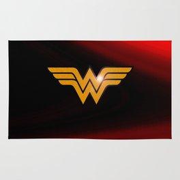 WonderWoman emblem insígnia Wonder, Red, Gold, Diana Prince, warrior princess of the Amazons Rug