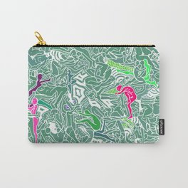 Body Map - Sea Green Carry-All Pouch